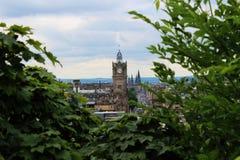 Эдинбург, башня с часами Стоковые Изображения