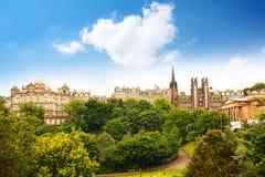 Эдинбург, принцы Сад стоковая фотография