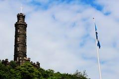 Эдинбург - холм Cartlon, памятник Нельсона Стоковое фото RF