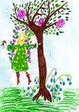 Эльф летания весны. бесплатная иллюстрация