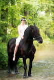 Эльф и лошадь Стоковые Изображения RF