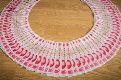 100 юаней, китайские деньги Стоковое Изображение
