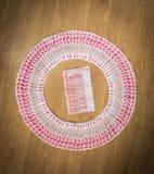 100 юаней, китайские деньги Стоковое фото RF