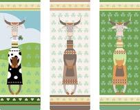 любимчики коровы одежды модные Стоковые Фото