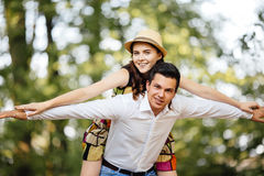 любить пар счастливый Стоковые Изображения RF