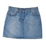 Юбка джинсовой ткани женщин Стоковые Изображения