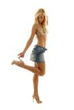 Юбка джинсовой ткани Стоковые Фотографии RF