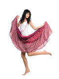 юбка пинка девушки Стоковая Фотография RF