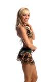 юбка camo бикини стоковое изображение rf