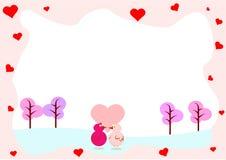 любовники влюбленности сердца рамки Стоковые Фото