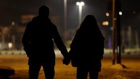 любовники на ноче сток-видео