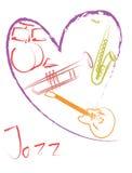 любовник джазовой музыки ‹¹ à ‹¹ à иллюстрация вектора