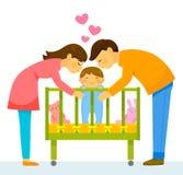 любящие родители иллюстрация штока