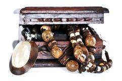 ювелирные изделия коробки деревянные стоковые изображения rf