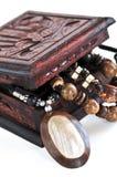 ювелирные изделия коробки деревянные стоковое изображение rf