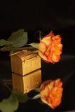 ювелирные изделия коробки подняли Стоковое Фото