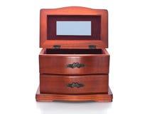 ювелирные изделия ларца деревянные стоковое изображение rf