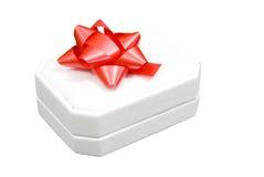 ювелирные изделия подарка коробки смычка Стоковая Фотография