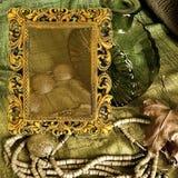 ювелирные изделия рамки предпосылки искусства Стоковые Изображения