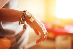 ювелирные изделия руки Стоковое Изображение RF