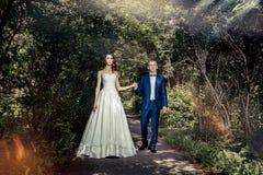 ювелирные изделия cravat пар кристаллические связывают венчание красивейший groom невесты Стоковое Изображение