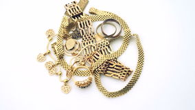 Ювелирные изделия золота сток-видео