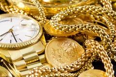 Ювелирные изделия, золото, Стоковое Фото