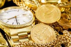 Ювелирные изделия, золото, Стоковые Фото
