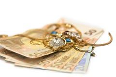 Ювелирные изделия и деньги Стоковые Изображения RF