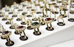 Ювелирные изделия колец золота Стоковое Фото
