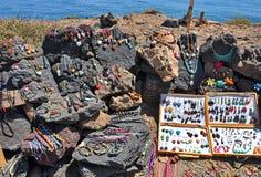 Ювелирные изделия сделанные камня лавы Стоковые Изображения