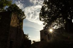Юговосточная деревня Франции старая стоковое изображение