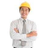 Юговосточный азиатский инженер стоковая фотография rf