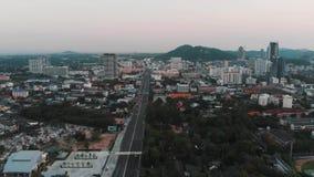 Юговосточный город АСЕАН ОН назад сток-видео