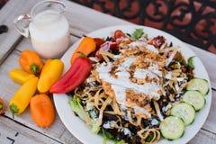 Югозападный салат из курицы Стоковое Изображение RF