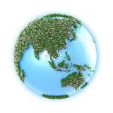 Юго-Восточная Азия и Австралия на земле планеты Стоковая Фотография RF