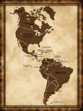 юг карты америки северный Стоковое Изображение RF