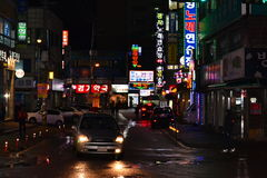 юг приятеля s seoul короля Кореи в июле 30 изменяя предохранителей Стоковое фото RF
