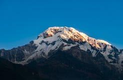 юг annapurna пиковый стоковое фото