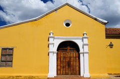 Южная Америка, Венесуэла, взгляд на колониальном городе Coro стоковое фото rf