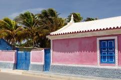 Южная Америка, Венесуэла, взгляд на рыбацком поселке Adicora Стоковая Фотография RF