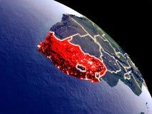 Южная Африка от космоса иллюстрация вектора