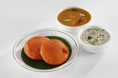 Южная индийская еда Стоковая Фотография RF