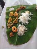 Южная индийская tamilian еда Стоковое фото RF