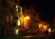 Южная Италия, зона Калабрия, город Tropea ночи Стоковые Изображения RF
