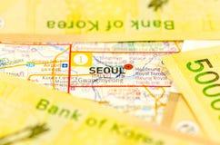 Южная Корея выиграла банкноту Стоковое Фото