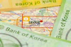 Южная Корея выиграла банкноту Стоковое Изображение