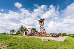 Южная Моравия, Velke Pavlovice: Башня бдительности около виноградника Славное туристское место на земле земледелия Конструкция ба Стоковое Изображение RF