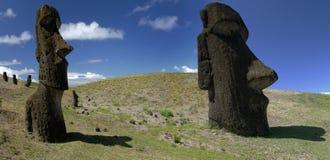 южная океана moai острова пасхи Тихая океан Стоковое Изображение RF