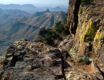 Южная оправа следа Chisos, большой национальный парк загиба, Техас Стоковое фото RF